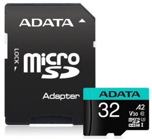 ADATA Premier Pro 32GB Class 10 UHS-I U3 V30S microSDHC Card with Adapter