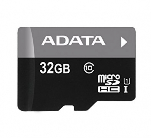 ADATA 32GB Premier microSDHC UHS-I Class 10 Card with Adapter