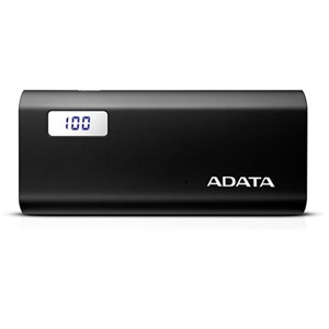 ADATA P12500D 2.1A 12500mAh Power Bank with LCD Display