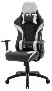 Aerocool ONEX GX2 Leatherette Gaming Office Chair with Adjustable Head and Back Cushions - Black/White