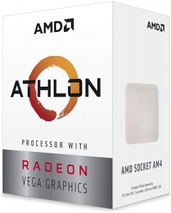 AMD Athlon 200GE Dual-Core 3.20GHz AM4 Processor with Vega 3 Radeon Graphics