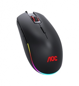 AOC GM500 RGB USB Wired Gaming Mouse - Black