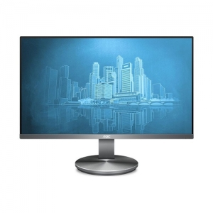 AOC I2490VXQ 23.8 Inch 1920 x 1080 5ms 250nit Frameless IPS Monitor with Speakers - DisplayPort HDMI VGA
