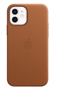 Apple Leather MagSafe Case for iPhone 12 & iPhone 12 Pro - Saddle Brown
