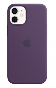 Apple Silicone Case with MagSafe for iPhone 12 and 12 Pro - Amethyst