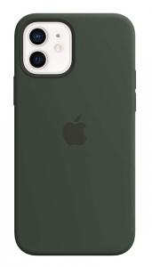 Apple Silicone MagSafe Case for iPhone 12 & iPhone 12 Pro - Cyprus Green