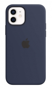 Apple Silicone MagSafe Case for iPhone 12 & iPhone 12 Pro - Deep Navy