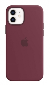 Apple Silicone MagSafe Case for iPhone 12 & iPhone 12 Pro - Plum