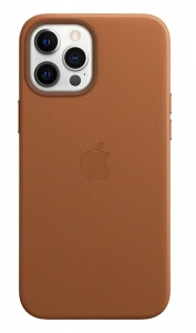 Apple Leather MagSafe Case for iPhone 12 Pro Max - Saddle Brown