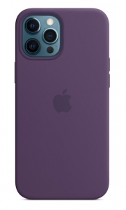 Apple Silicone Case with MagSafe for iPhone 12 Pro Max - Amethyst