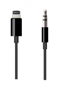Apple 1.2m Lightning to 3.5-mm Audio Cable - Black