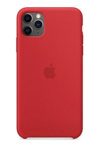 Apple Silicone Case for iPhone 11 Pro Max - Red