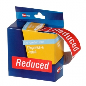 Avery 64 x 19 mm Reduced Dispenser Round Label - 250 Labels