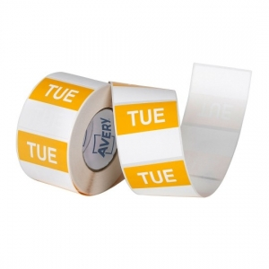 Avery 40mm Tuesday Square Label Yellow/White - 500 Labels