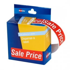 Avery 64 x 19 mm Sale Price Dispenser Round Label - 250 Labels