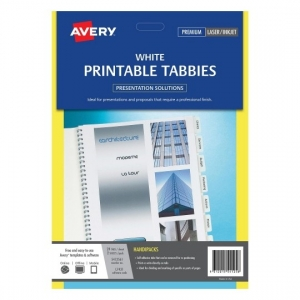 Avery Printable White Tabbies - 48 Tabs