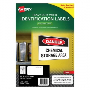 Avery L7060 Polyester White Laser 63.5 x 38.1mm Extra Strong Permanent Heavy Duty Labels - 525 Pack