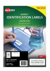 Avery L6145 White Laser 45.7 x 25.4mm Extra Strong Permanent No Peel Labels – 400 Pack