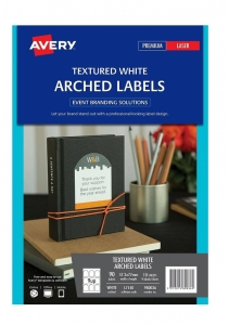 Avery L7140 White Laser Inkjet 57.2 x 77mm Permanent Textured Arched Labels – 90 Pack