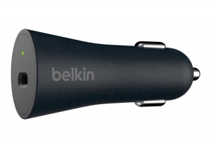 Belkin BoostUP Charge USB-C 27W QuickCharge Car Charger with 1m USB-C to USB-C Cable - Black