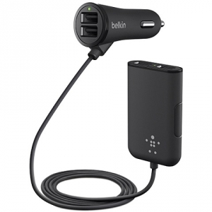 Belkin Road Rockstar Car Charger with 4 Port Extension Hub