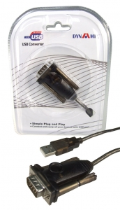 Dynamix 1.5M USB to Serial DB9 RS232 Cable