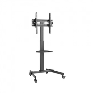 Brateck Compact Height Adjustable Mobile Cart Trolley Mount for 32-55 Inch Flat Panel TVs or Monitors - Up to 35kg