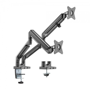 Brateck Dual Gas-Spring Desk Mount Bracket for 17-32 Inch Flat Panel TVs or Monitors - Up to 9Kg