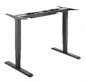 Brateck Dual Motor Electric Two Leg Sit-Stand Desktop Workstation with Table Top