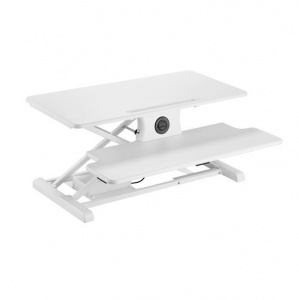 Brateck Compact Surface Electric Scissor Lift Desktop Sit-Stand Workstation - White
