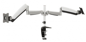 Brateck Counterbalance Dual Desk Mount Bracket for 13-27 Inch Flat Panel TVs or Monitors - Up to 9kg per arm