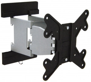 Brateck Super Slim Aluminum Full-Motion Wall Mount Bracket for 23-42 Inch Flat Panel TVs or Monitors - Up to 30kg