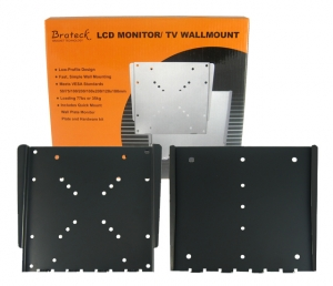Brateck Economy Super Slim Fixed Wall Mount Bracket for 23-42 Inch Flat Panel TVs or Monitors - Up to 30kg