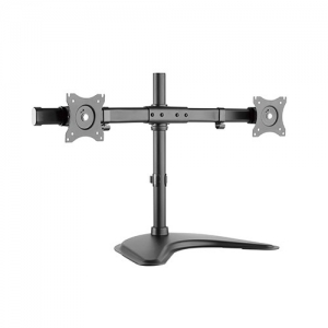 Brateck Essential Dual Monitor Desk Stand for 13-27 Inch Curved or Flat Panel TVs or Monitors - Up to 10kg