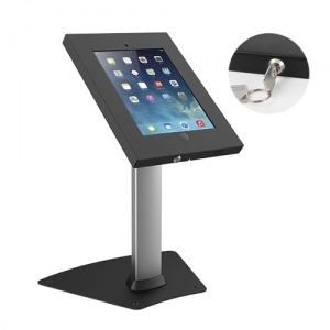 Brateck Anti-Theft Steel Tablet Enclosure with Lock for 9.7 Inch iPad and iPad Air - Black