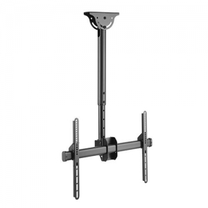 Brateck Telescopic Full-Motion Ceiling Mount Bracket for 37-70 Inch Flat Panel TVs or Monitors - Up to 50kg