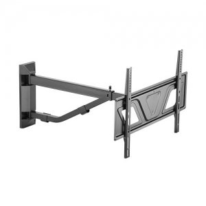Brateck Telescoping Full-Motion Wall Mount Bracket for 37-80 Inch Curved or Flat Panel TVs or Monitors - Up to 50Kgs