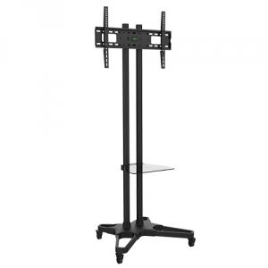 Brateck Adjustable Height Mobile Cart Trolley Mount for 37-70 Inch Flat Panel TVs or Monitors - Up to 70 kgs