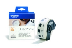Brother DK11219 12mm X 12mm Black on White Round Labels