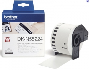 Brother DKN55224 54mm x 30m Black on White Continuous Non-Adhesive Paper Label Roll Tape