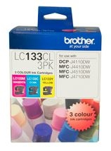 Brother LC133 Colour Ink Cartridge Value Pack - Cyan, Magenta & Yellow