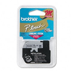 Brother P-Touch M931 12mm Black on Silver Tape