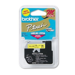 Brother MK631 12mm Black on Yellow P-Touch Tape
