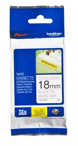 Brother P-Touch TZES241 18mm Black on White Label Tape