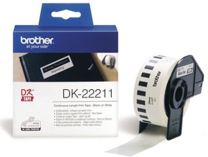 Brother P-Touch DK22211 29mm White Continuous Length Removable Tape