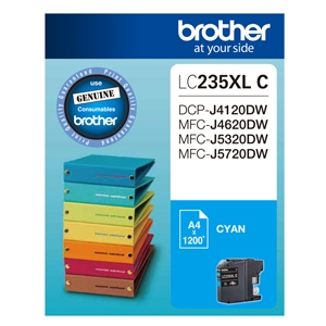 Brother LC235XLC Cyan High Yield Ink Cartridge