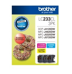 Brother LC233 Ink Cartridge Value Pack - Cyan, Magenta, Yellow