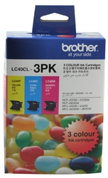 Brother LC40CL3PK Ink Cartridge Value Pack - Cyan, Magenta & Yellow