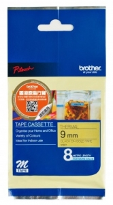 Brother P-Touch MK M821 9mm Black on Gold Labelling Tape