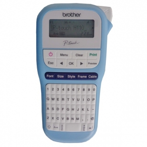 Brother P-Touch PTH110 Durable Label Printer - Light Blue + $20 Cashback!